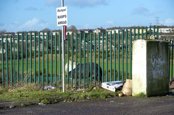 Rubbish left on Spring Lane in Blackpool, Cork today. Picture Dan Linehan