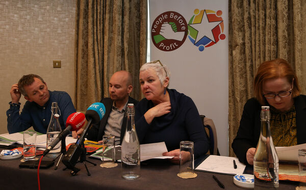Richard Boyd Barrett TD , Paul Murphy TD Bríd Smith TD andRuth Coppinger TD launching the Solidarity People Before Profit manifesto.Picture: Stephen Collins/Collins Photos