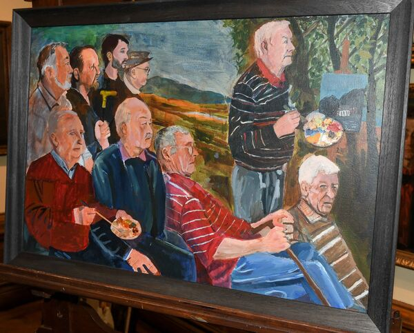 The Men of Fair Hill painted by members of the Fair Hill Men's Art Group, on display at the Crawford Art Gallery. Picture: David Keane.