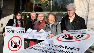 Cork residents take protest to Dublin against Celtic Interconnector project