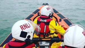 Elderly lady rescued from the sea in Youghal