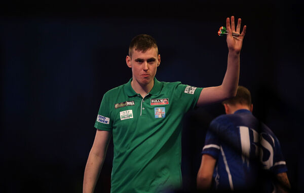 Ciaran Teehan celebrates winning. Picture: Steven Paston/PA Wire.