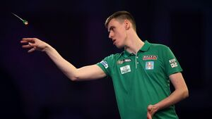 Rising darts star Teehan hits the bullseye on his debut at Alexandra Palace