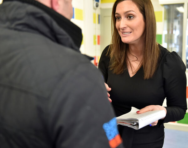Our reporter Sharon Horgan speaks to an inmate after the presentation of Cork Samaritan listener certificates at Cork prisonPicture: Eddie O'Hare
