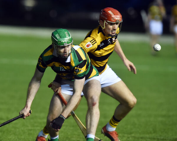 Glen Rovers' Luke Horgan and Na Piarsaigh's Jamie Morrissey tussle for the ball. Picture: Eddie O'Hare