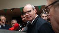 Simon Coveney reacts to general election result at Nemo count centre
