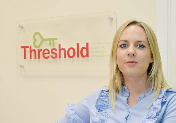 Edel Conlon, southern regional manager, Threshold, in the Cork office at South Mall. Picture: Denis Minihane.