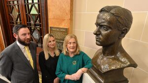 Family of Tomás MacCurtain in City Hall to mark the birth of modern democracy in Cork