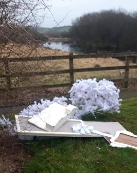 Some of the dumping seen in recent days in the Blarney area. Picture: Facebook Blarney Blog.