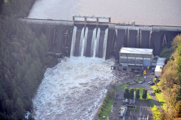 The Inniscarra Dam. In November 2009 enough rain fell in three days to fill the reservoir behind the dam five times over. Picture Denis Minihane.