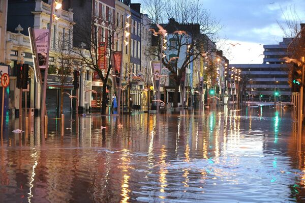 The Grand Parade under flood waters. Pic: Brian Lougheed
