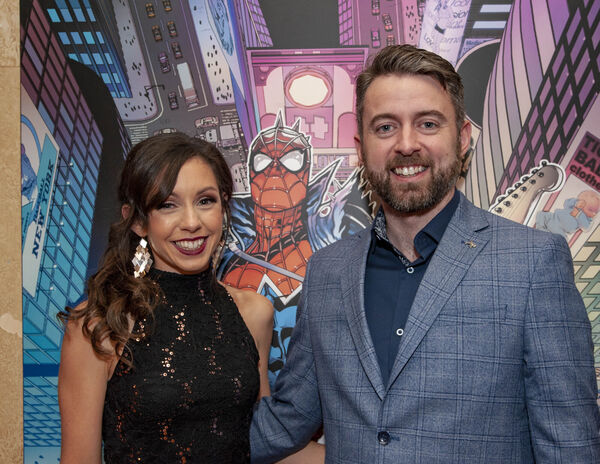 Comic Book Artist Will Sliney with his wife Laura.