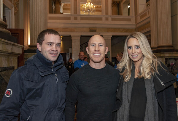 Richard O'Leary (lef) with Peter Stringer and his wife Debbie