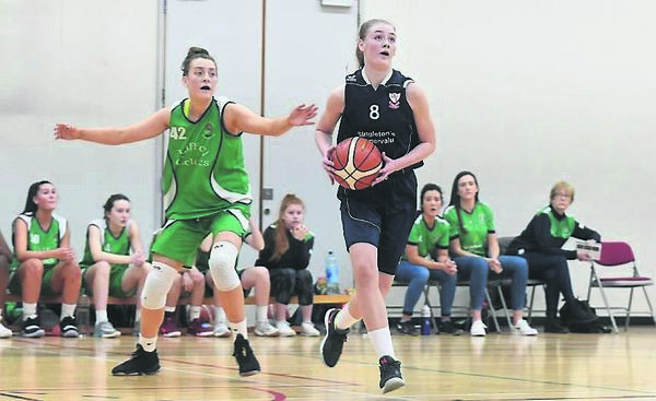 Brunell's Lauryn Homan eyes the basket during last year's Hula Hoops U18 Women's National Cup semi-final; against Liffey Celtics. 	Picture: Larry Cummins