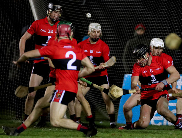 UCC's Paddy O'Loughlin saves a late goal attempt. Picture: INPHO/James Crombie