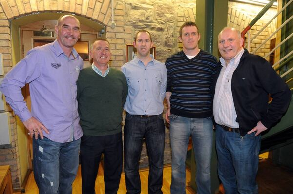 At the launch of College Corinthians 40th anniversary celebrations were Don Bevan,Fergus McDaid, Dave Ahern, Pat Maher and Gerry McAnaney. Picture: Eddie O'Hare