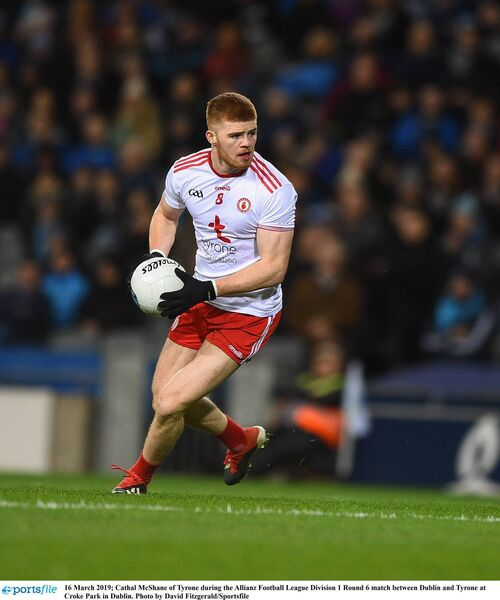 Cathal McShane of Tyrone during the Allianz Football League Division 1 Round 6 match between Dublin and Tyrone at Croke Park in Dublin. Photo by David Fitzgerald/Sportsfile