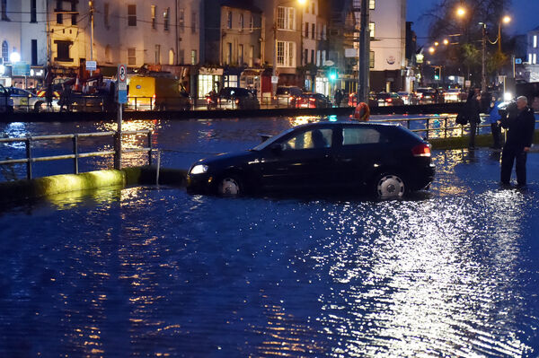 Flooding on Fr Mathew quay in Cork city last monthtPicture: Eddie O'Hare
