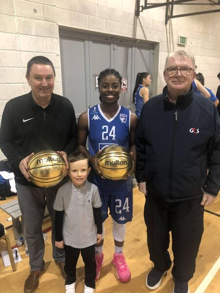 Mark Scannell and Shrita Parker, Glanmire, recently collected their Basketball Ireland awards for excelling in November from John Coughlan, Echo basketball correspondent.