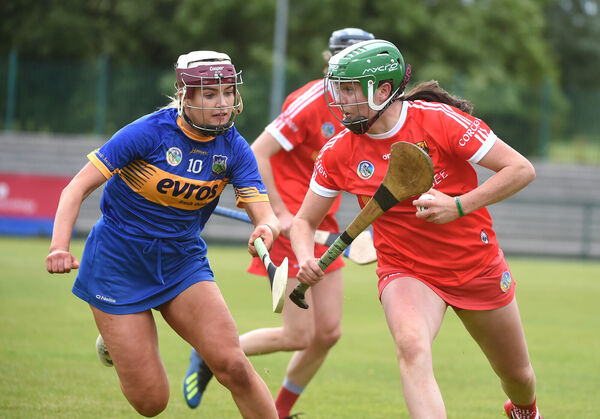 Hannah Looney, Cork, in action against Orla Dwyer, Tipperary. Picture: Larry Cummins.