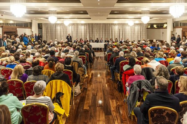 A meeting took place at the Maritime Hotel, Bantry, to protest the potential downgrading of Bantry Hospital.