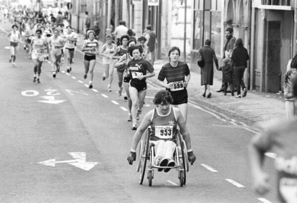 Kay McShane from Cobh  taking part in the 1983 Echo Women's Mini Marathon.