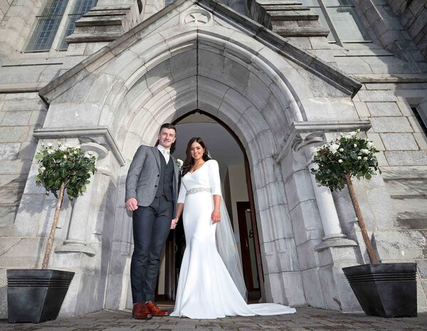 Marriage of Patrick Horgan, Glen Rovers & Cork Senior Hurling Captain to Ashley Lovett, Ballincollig, at the Church of St. Mary's and St. John, Station Road, Ballincollig, Cork.Picture: Jim Coughlan.