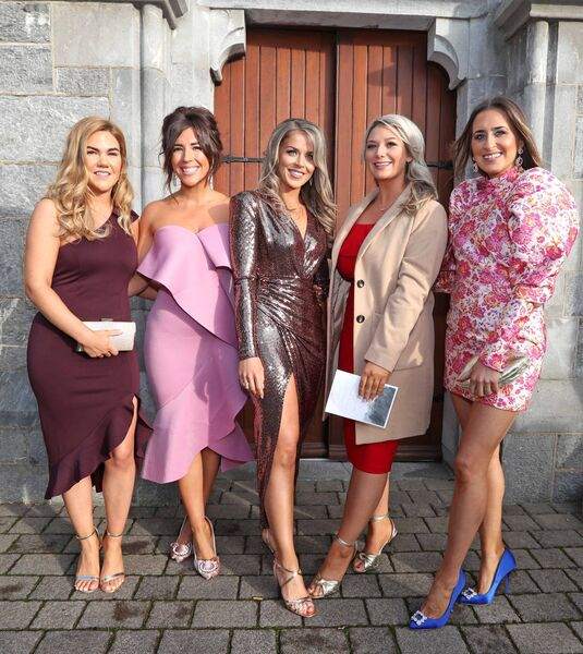 Wedding Guests & Friends of the Bride, Jennifer Bowen, Brea O'Callaghan, Rebecca O'Callaghan, Donna Geaney and Rebecca Milner.Picture: Jim Coughlan.