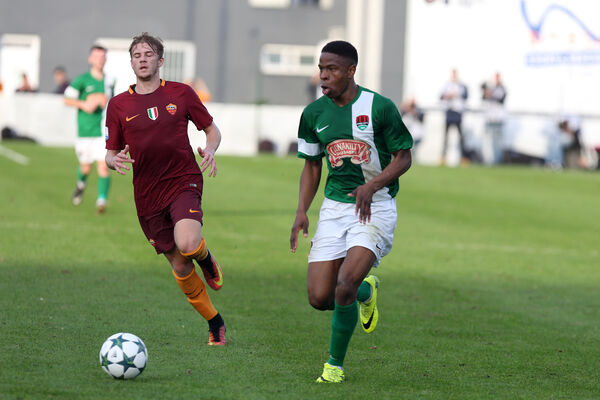 Cork City's Chiedozie Ogbene in UEFA Youth League Round of 16, second Leg, action against AS Roma in the Stadio Tre Fontane, Rome, Italy back in 2016. Ogbene had a good match and an assist for Rotherham last weekend. 	Picture: INPHO/Giuseppe Fama