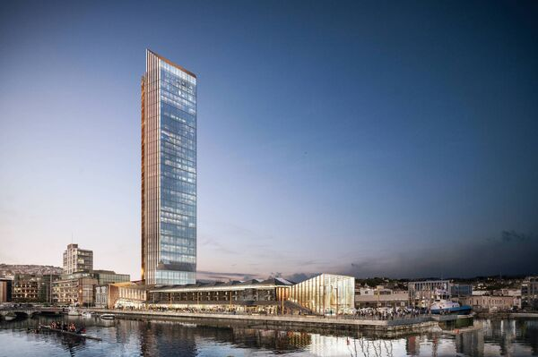 How the Custom House Quay development will look.