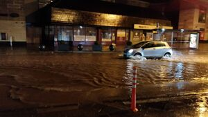 Douglas hit by spot flooding during heavy rainfall; M8 motorway also closed by downpours