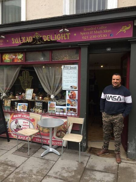 Taoufik Hammami of The Hand of Fatima café and shop on MacCurtain Street.