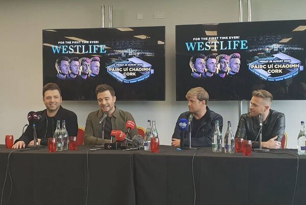 Westlife in Páirc Uí Chaoimh this morning announcing their August 28 concert