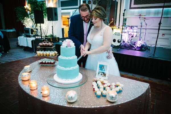 A SLICE THAT'S NICE: The fantastic cake was by Brian Roche of Baker Boy Cakes.