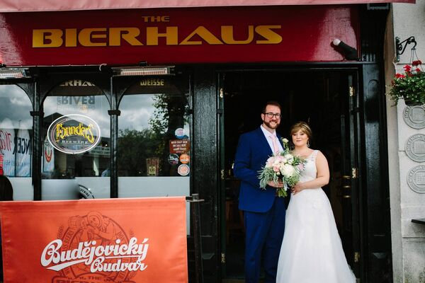 BACK TO WHERE IT ALL BEGAN: Deirdre O'Donovan and Philip Nannery at the Bierhaus on Popes Quay where they had their first date. Pictures: Sean Clarke