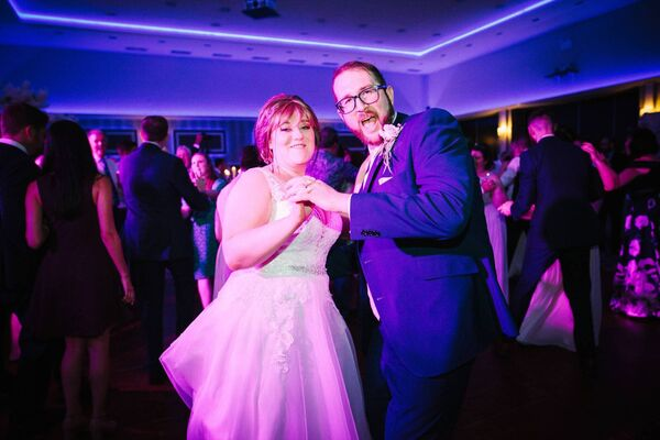 BREAKING WITH TRADITION: Deirdre O'Donovan and Philip Nannery had their first dance to 'Hooked On A Feeling' by Blue Suede.