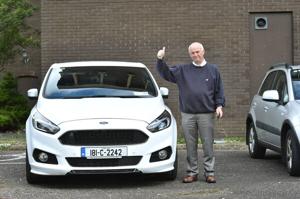 Reunited with his Ford S-max car is George Finn, Douglas, Cork Picture Dan Linehan