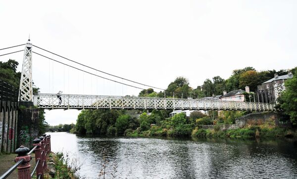 Daly's Bridge, known locally as the Shakey Bridge prior to the commencement of restoration work. Picture: Denis Minihane.
