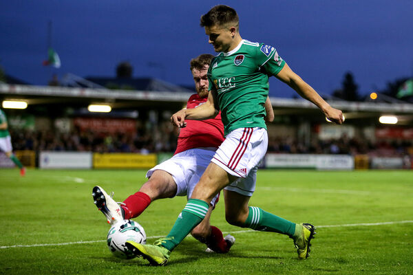 Cork City's Daire O'Connor hit the opening goal against Waterford. Picture: INPHO/Laszlo Geczo