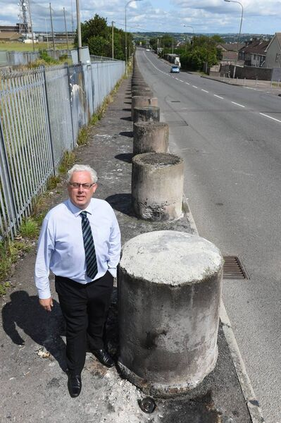"Cllr Thomas Gould: ""We will be closing down Kilmore Road on certain days. And when Apple can't get their trucks up there, I'll be standing there with the residents."" Pic; Larry Cummins."