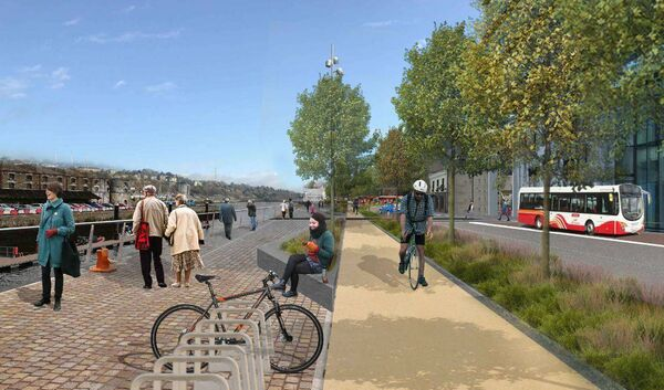 Image of the proposed Albert Quay under the Cork Docklands road improvement scheme.