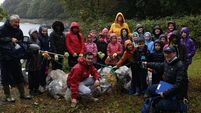 Cork school shows solidarity to Greta in beach clean up