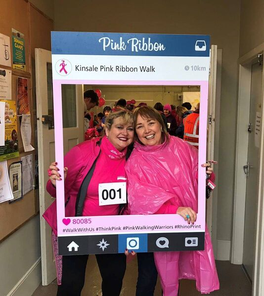 Ambassador Sharon Crosbie and Fiona O'Mahony, Chairperson, Pink Ribbon Walk are preparing for the 8th annual Kinsale Pink Walk on October 6.