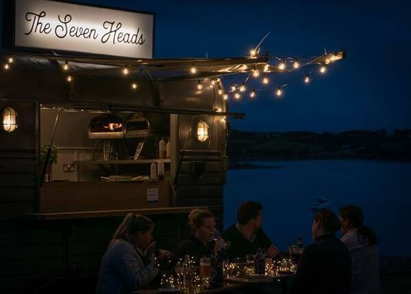 The food truck at the Seven Heads, run by Hugh Mullan.