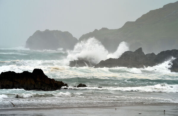 High seas along the West Cork coastline during Storm Lorenzo.Picture Denis Minihane.