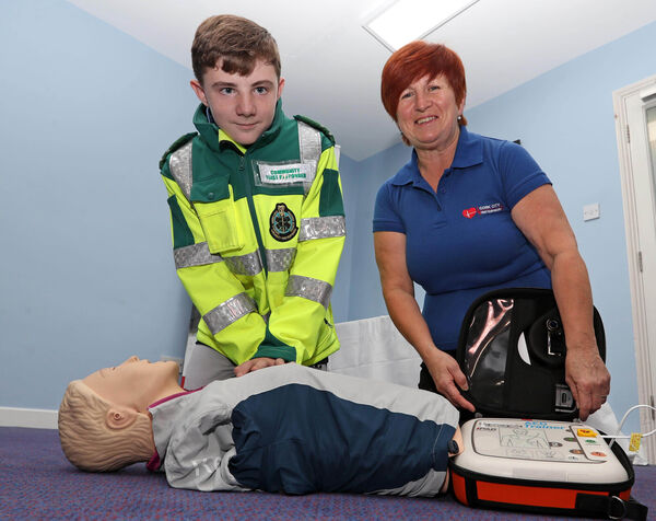 Adam O'Dwyer and Majella Carroll, Cork City First Responders Volunteer.Picture: Jim Coughlan.