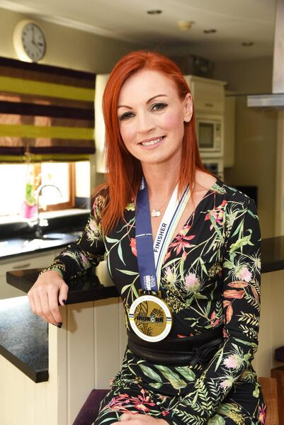 Fiona Foley, is a former hairdresser, who has a second brown belt in Karate and only started doing triathlons eight years ago. Picture: Siobhán Russell