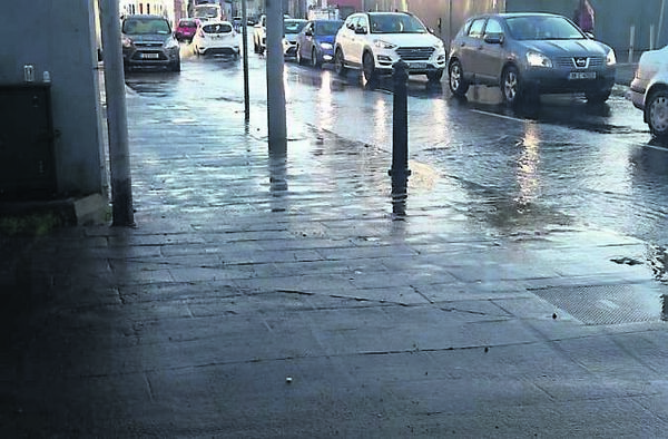 Flooding and traffic in Blackpool earlier this week.