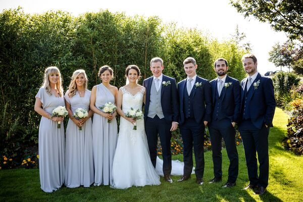 Yvonne Twomey and Jerry Buckley with their bridal party. Pictures: Laura and Benny Photography.
