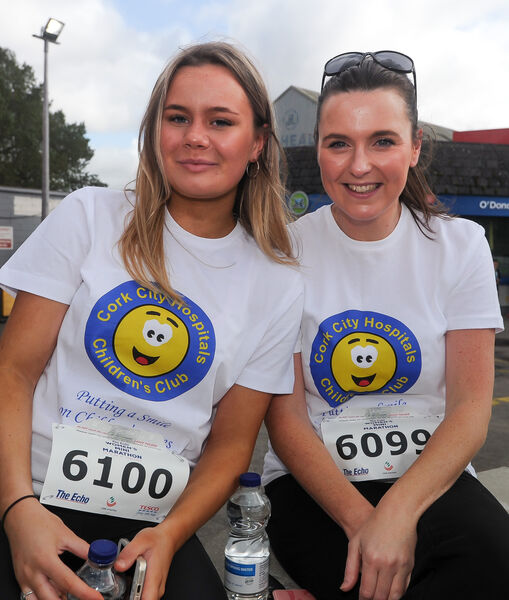 Jess and Rachel Barry, before taking part the Echo Women's Mini Marathon in aid of the Cork City Hospitals Children's Club.